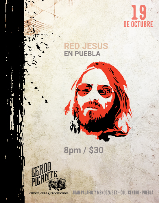 red jesus Cerdo Picante Flyer 1